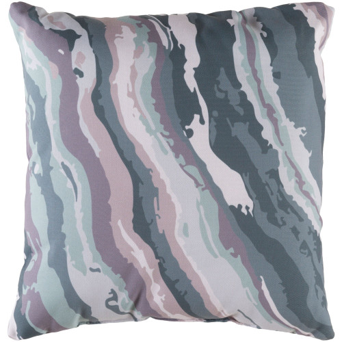 """22"""" Emerald Green and Gray Textured Square Throw Pillow Cover - IMAGE 1"""