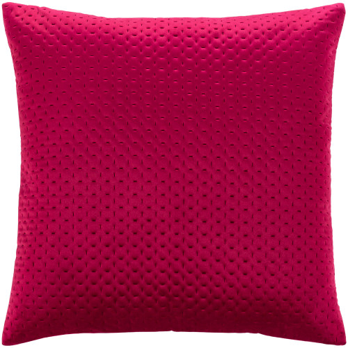 """18"""" Red Solid Square Throw Pillow with Knife Edge - Poly Filled - IMAGE 1"""