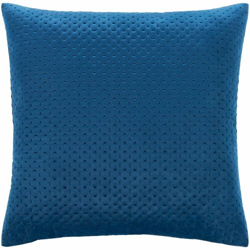 """18"""" Blue Solid Square Throw Pillow with Knife Edge - Poly Filled - IMAGE 1"""