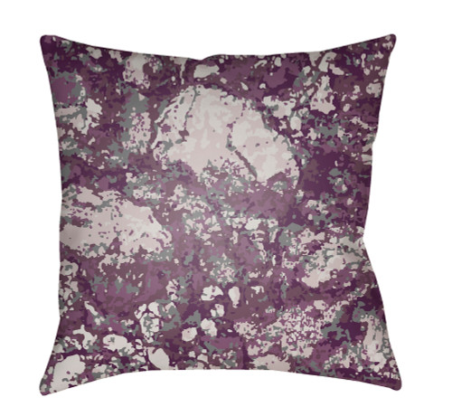 """22"""" Purple and Gray Square Throw Pillow Cover with Knife Edge - IMAGE 1"""