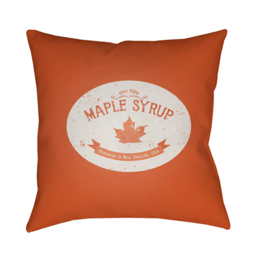 """18"""" Orange Printed Maple Themed Design Throw Pillow Cover with Knife Edge - IMAGE 1"""