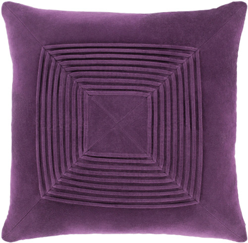 """18"""" Dark Purple Geometric Square Throw Pillow Cover with Knife Edge - IMAGE 1"""