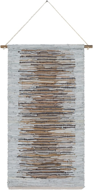"44"" Gray and Beige Rectangular Wall Hanging - IMAGE 1"