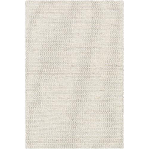 2' x 3' Textured Cream White Handwoven Rectangular Area Throw Rug - IMAGE 1