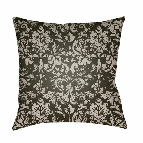 """22"""" Green and Gray Floral Square Throw Pillow Cover with Knife Edge - IMAGE 1"""