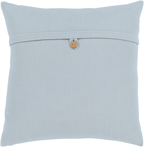 """18"""" Gray Solid Woven Square Throw Pillow with Knife Edge - Poly Filled - IMAGE 1"""