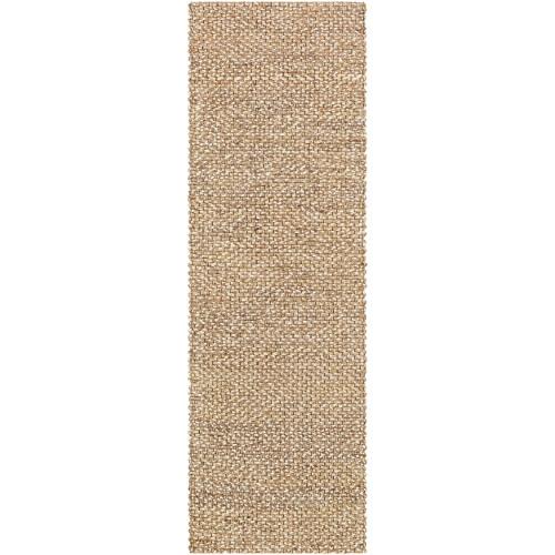 2.5' x 8' Solid Brown Rectangular Area Throw Rug Runner - IMAGE 1