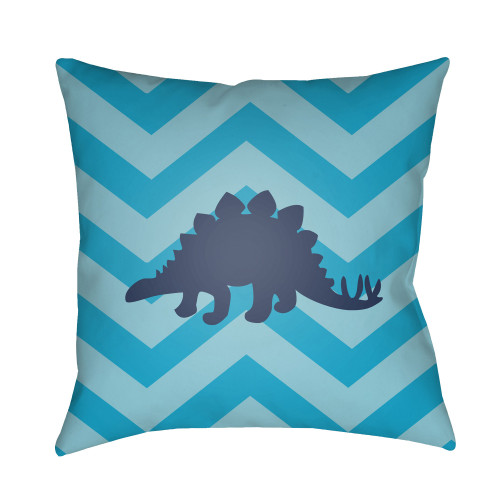 """18"""" Blue Vector Line Patterned Throw Pillow Cover with Knife Edge - IMAGE 1"""