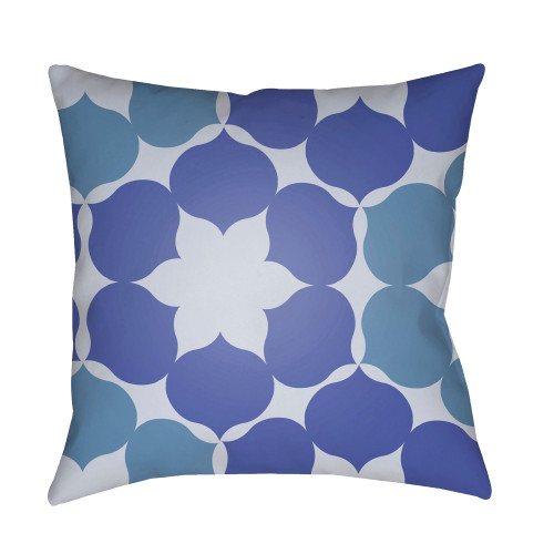 """22"""" Violet and White Throw Pillow Cover with Knife Edge - IMAGE 1"""