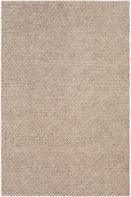 5' x 7.5' Brown and Beige Hand Woven Rectangular Area Throw Rug - IMAGE 1