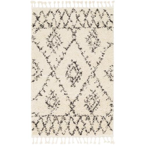 3' x 5' Scandinavian Ethnic Pattern Gray and Beige Rectangular Machine Woven Area Rug - IMAGE 1
