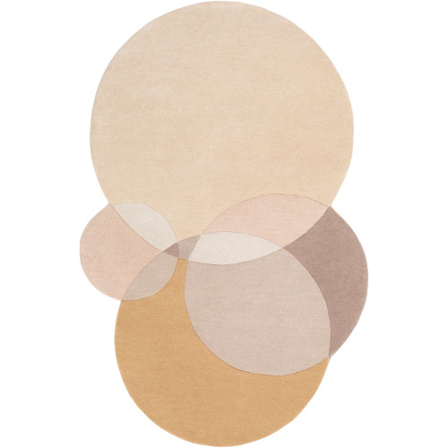 8' x 10' Contemporary Style Beige and Brown Area Throw Rug - IMAGE 1