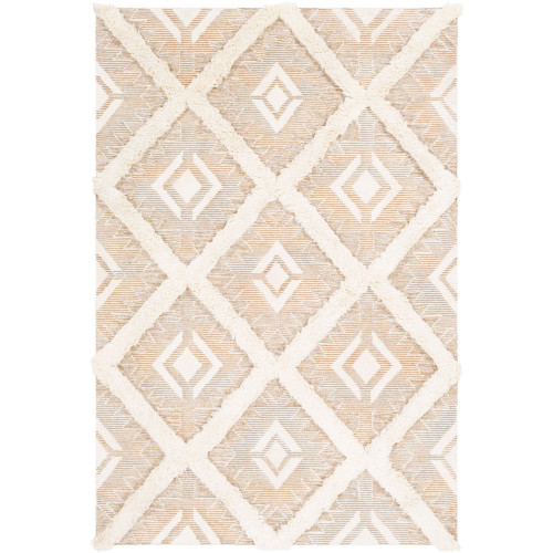 8' x 10' Contemporary Style Beige and Brown Rectangular Area Throw Rug - IMAGE 1