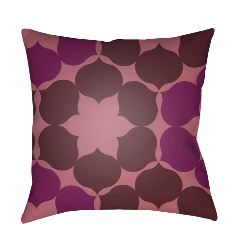 """22"""" Brown and Bright Purple Throw Pillow Cover with Knife Edge - IMAGE 1"""