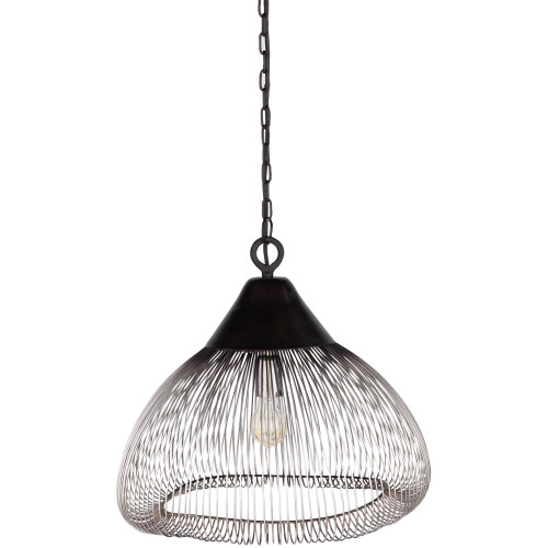 """18"""" Black and Clear Traditional Style Glass Ceiling Lighting - IMAGE 1"""
