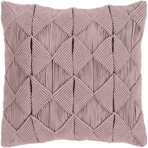 """18"""" Rosy Brown Geometric Square Throw Pillow Cover with Knife Edge - IMAGE 1"""