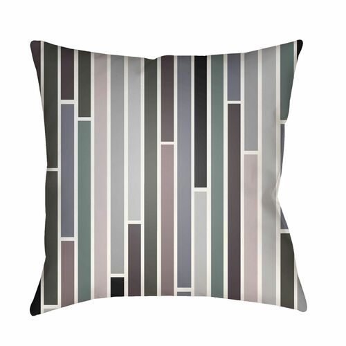 """22"""" Charcoal Black and Gray Digitally Printed Square Throw Pillow Cover - IMAGE 1"""