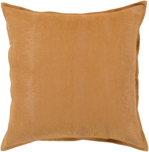 "22"" Orange Jacquard Solid Square Throw Pillow Cover - IMAGE 1"