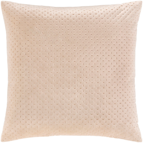"""18"""" Ivory Stitched Square Throw Pillow Cover - IMAGE 1"""