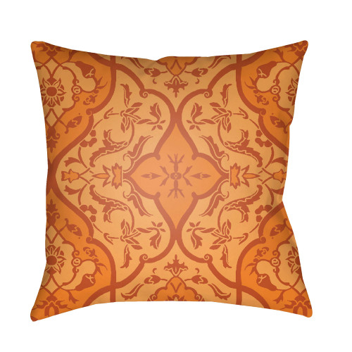 "20"" Bright Orange Digitally Printed Square Throw Pillow Cover - IMAGE 1"