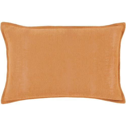 """19"""" Orange Rectangular Throw Pillow - Polyester Filler - IMAGE 1"""