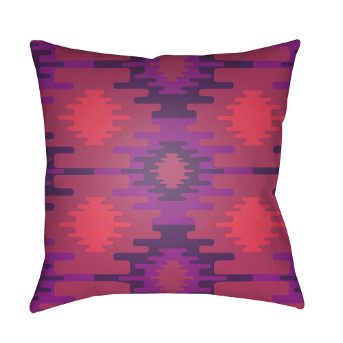 """20"""" Pink and Purple Square Throw Pillow Cover - IMAGE 1"""