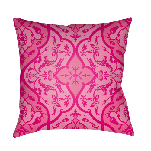 """20"""" Bright Pink Digitally Printed Square Throw Pillow Cover - IMAGE 1"""