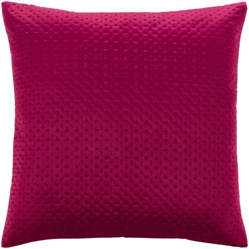 "20"" Fuschia Stitched Square Throw Pillow Cover - IMAGE 1"