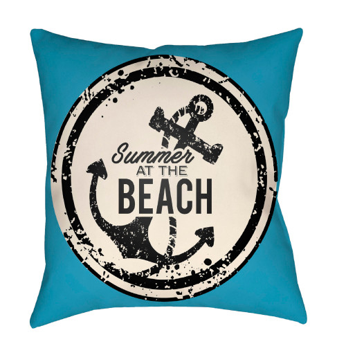 """20"""" Blue and Black """"Nautical Themed"""" Square Throw Pillow Cover - IMAGE 1"""