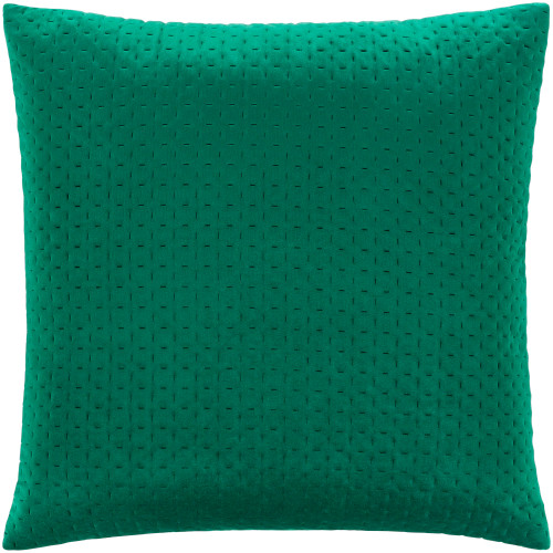 """20"""" Emerald Green Stitched Square Throw Pillow Cover - IMAGE 1"""