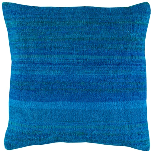"18"" Sky Blue Square Woven Throw Pillow Cover with Knife Edge - IMAGE 1"
