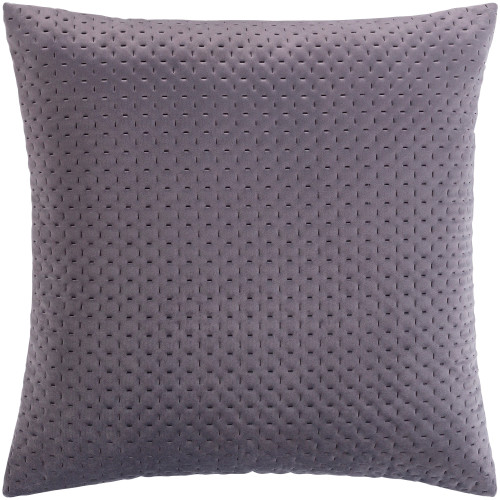 "20"" Gray Stitched Square Throw Pillow Cover - IMAGE 1"
