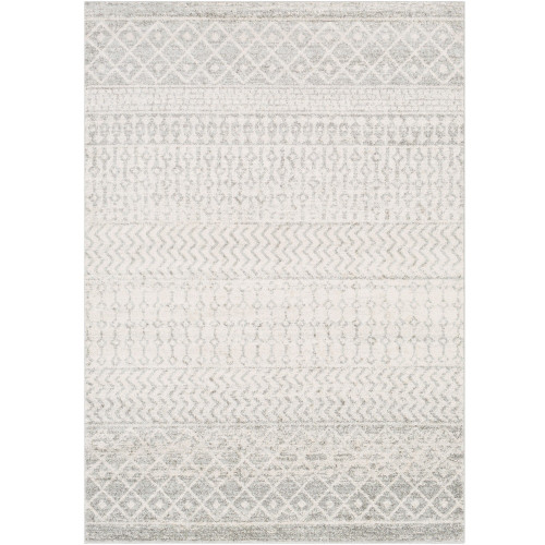 12' x 15' Moroccan Design Gray and White Rectangular Machine Woven Area Throw Rug - IMAGE 1