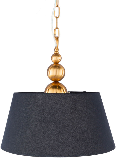 """16"""" Black and Gold Colored Antique Style Hanging Pendant Ceiling Light Fixture - IMAGE 1"""