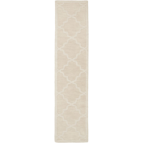 2' x 3' Moroccan Patterned Ivory Rectangular Area Throw Rug - IMAGE 1