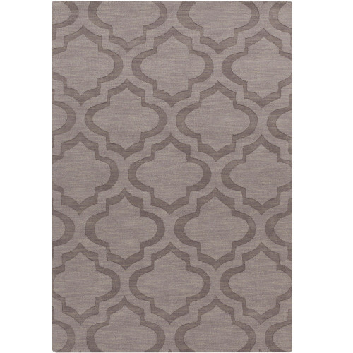 2' x 3' Moroccan Patterned Brown Rectangular Wool Area Rug - IMAGE 1