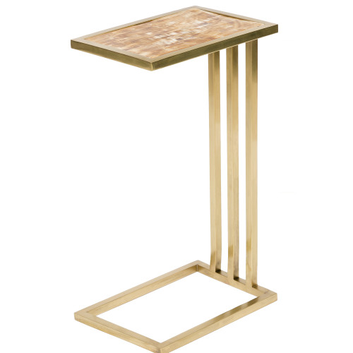 """24.75"""" Yana Contemporary Style Gold Metal Accent Table - IMAGE 1"""