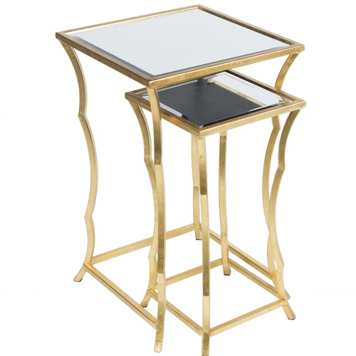 """25.5"""" Ardley Contemporary Style Gold Metal Square Accent Table - IMAGE 1"""