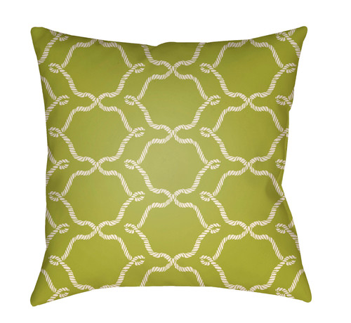 """20"""" Olive Green and White Digitally Printed Square Throw Pillow Cover - IMAGE 1"""