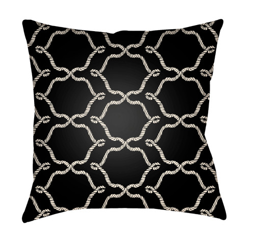 """20"""" Black and White Digitally Printed Square Throw Pillow Cover - IMAGE 1"""