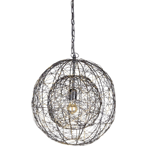 """21.25"""" Bronze Wired Fixture with Pendant Ceiling Lighting - IMAGE 1"""