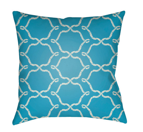"""20"""" Ocean Green and White Digitally Printed Square Throw Pillow Cover - IMAGE 1"""