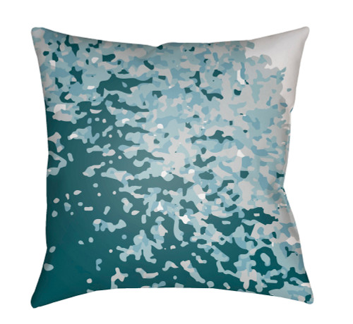 """20"""" Ocean Blue and White Digitally Printed Square Throw Pillow Cover - IMAGE 1"""