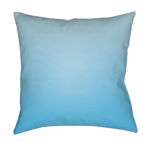 "20"" Sky Blue Solid Square Throw Pillow Cover with Knife Edge - IMAGE 1"