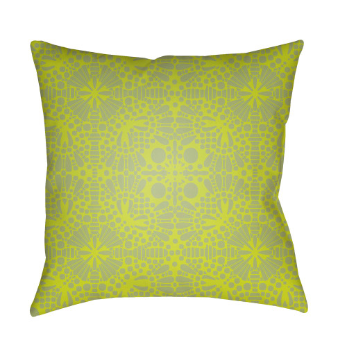 """20"""" Lime Green Square Throw Pillow Cover with Knife Edge - IMAGE 1"""