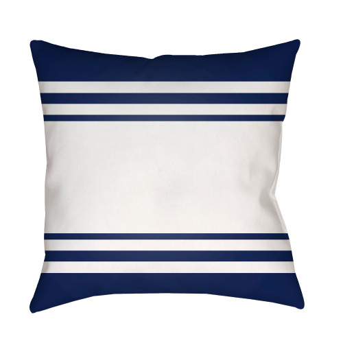 """20"""" Blue and White Square Throw Pillow Cover with Knife Edge - IMAGE 1"""