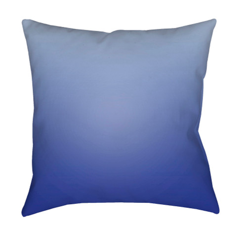 """20"""" Blue Solid Square Throw Pillow Cover with Knife Edge - IMAGE 1"""