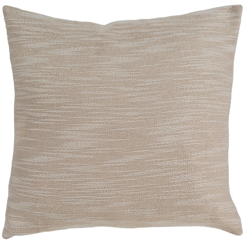 """20"""" Beige Square Woven Throw Pillow Cover with Knife Edge - IMAGE 1"""