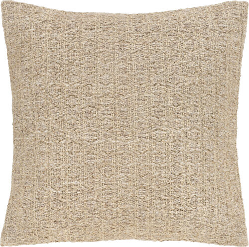 """20"""" Tan Textured Square Throw Pillow - Poly Filled - IMAGE 1"""