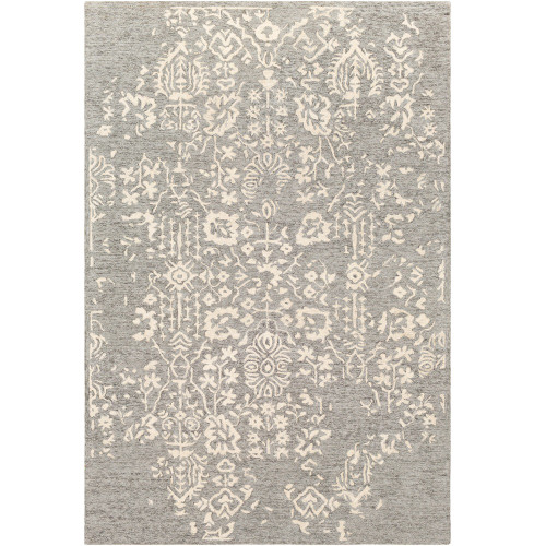 2' x 3' Seamless Pattern Beige and Gray Wool Area Rug - IMAGE 1